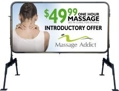 Massage addict print